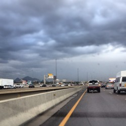 The drive in. #weather #az