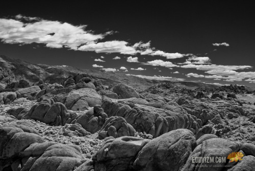 """Rock Lands"" Alabama Hills - Lone Pine, CA a100 + 28mm Minolta + hoya R72 IR filter (via Eduardo Cervantes Photography)"