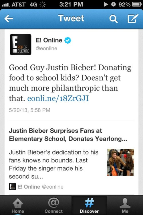 thatsexybieber:  do u know how happy I am that the media wrote about justin giving back instead of the nonsense bullshit negative stories that aren't even true 80% of the time they should really focus on this more often to show people the good he does constantly