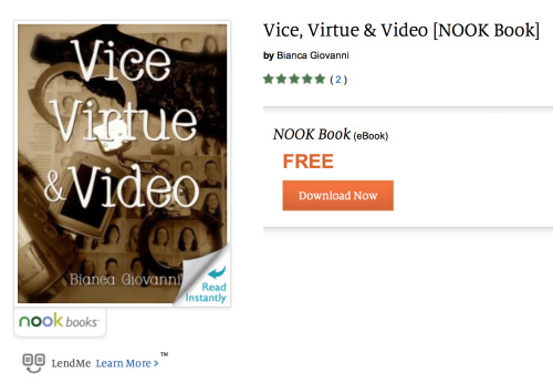 Vice, Virtue & Video has finally made it to the Nook store after a rather annoying delay. Nook users can download it right here.