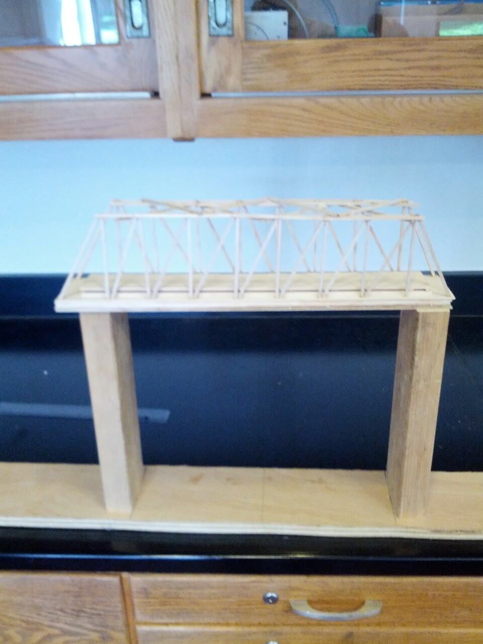 Done with the top part…now onto the bottom truss