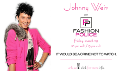 misfitmimes:  Must-see TV: Johnny will be on Fashion Police TONIGHT, 10 pm EDT / 9 pm CDT, on E! Entertainment (check local listings)! Don't miss it!!