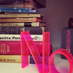 a little bookshelf #popofcolor (at kate spade new york)