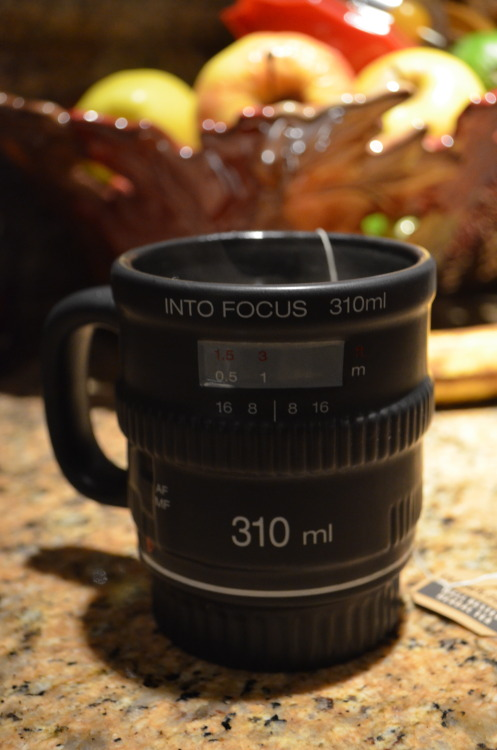 33/365 i am now the proud owner of a mug that looks like a camera lens and i'm pretty sure there is nothing better.