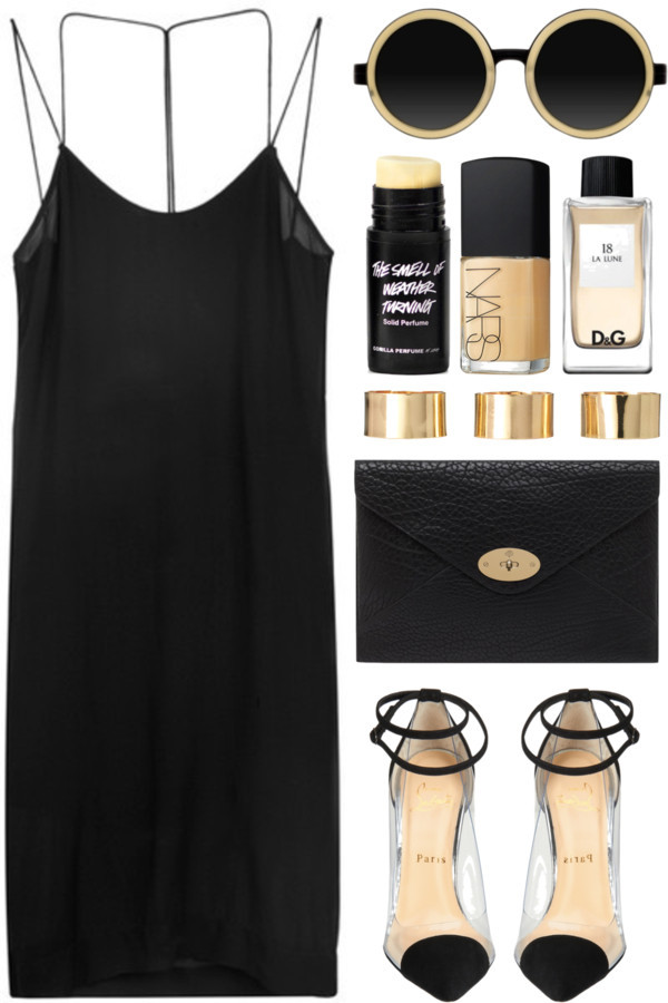 thepolyvorecollection:  black & gold by rosiee22 featuring oversized handbags