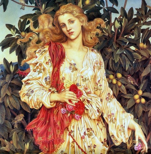strahlungen:  Evelyn de Morgan – Flora (Detail), 1894