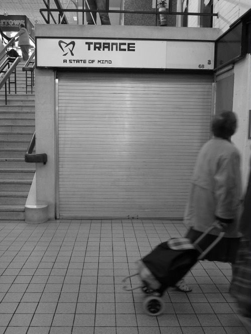 Trance: a state of mind. Castle Market, Sheffield, April 2010.