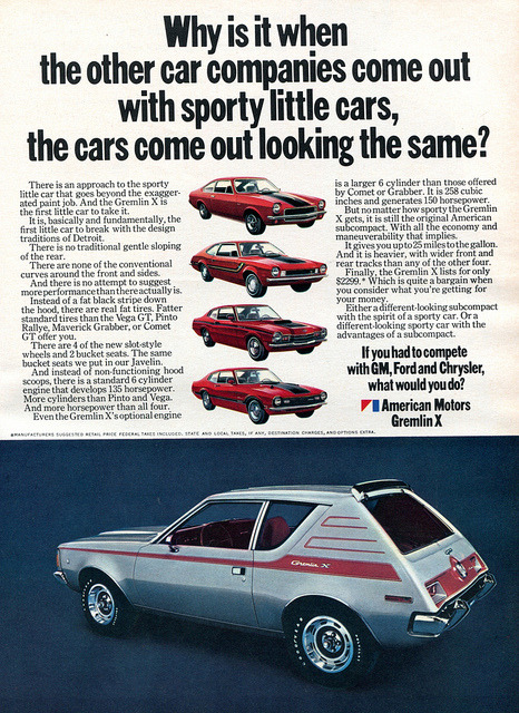 1971 AMC American Motors Gremlin X Advertising Hot Rod Magazine February 1971 by SenseiAlan on Flickr.1971 AMC American Motors Gremlin X Advertising Hot Rod Magazine February 1971