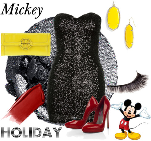 Mickey Holiday by survivingtwentytwelve featuring lancôme