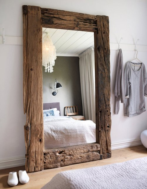 desperateluffas:  Driftwood Floor Mirror