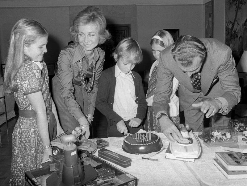 January 30, 1976, 8th birthday of Prince Felipe at La Zarzuela.
