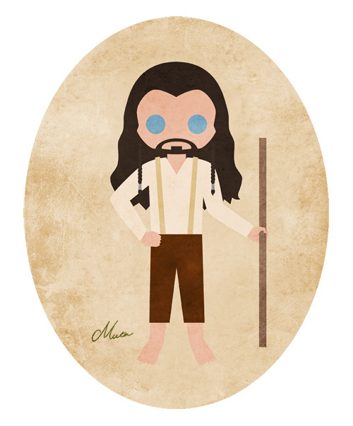 Thorin in hobbit's outfit inspired by The Road Delivered Us Home on AO3