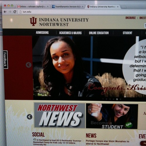 Little sis got her profile on the #iun site. Super late on posting but I'm proud of her working hard and getting her degree.