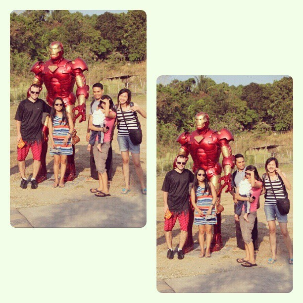 With Iron Man! Hahaha! #throwback #Zambales #Bataan #lateupload