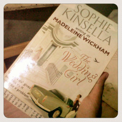 Such an enticing and riveting book. #SophieKinsella #MadelineWickham #TheWeddingGirl (Photo taken and uploaded via MOLOME )