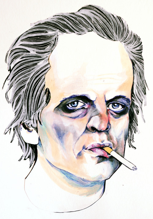 Klaus Kinski. (I'm in love with ballpoint pen if you haven't noticed it before)