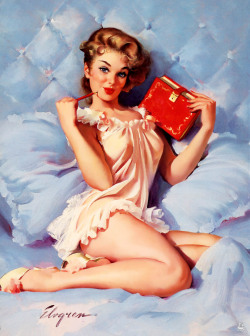 brudesworld:   Thinking of You by Gil Elvgren (1962).