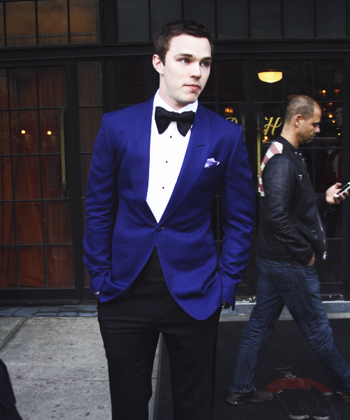 Nicholas Hoult on his way to the MET Gala, May 6, 2013