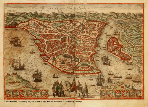ancient-serpent:  Old map of Constantinople