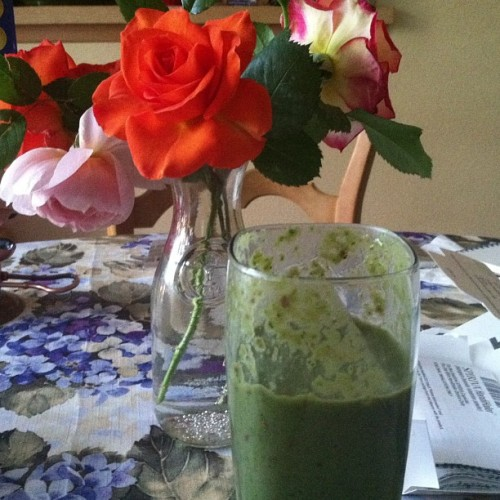 Testing out this green smoothie thing. I can dig it. #healthfood #green