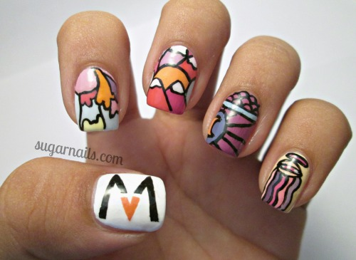 sugarnails:  Maroon 5- Overexposed nail art! :)