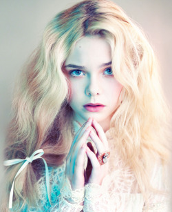 lazyteen:  Elle Fanning photographed by Mert Alas and Marcus Piggott for Love Magazine #6 (August 2012)