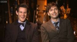 Matt Smith and David Tennant as 'The Doctor' ♡