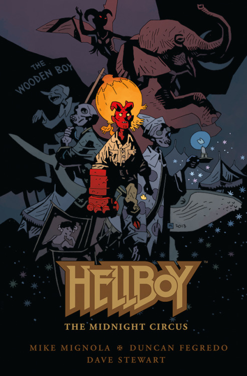 crapsulecorporation:  worldsworstgrandpa:  mizpollard:  king-mignola:  Hellboy - The Midnight Circus  aaaaaaaAaaaaaAAAAAAHHHHHHHH  Yes good. The world needs more wee lil' Hellboy!  Hey Katie Look