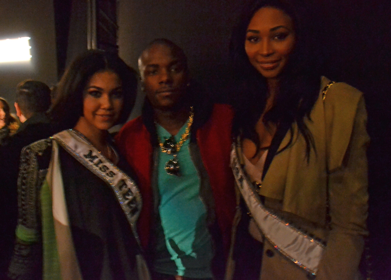Young Paris hangs with Miss teen U.S.A. & Miss U.S.A. #MBFW