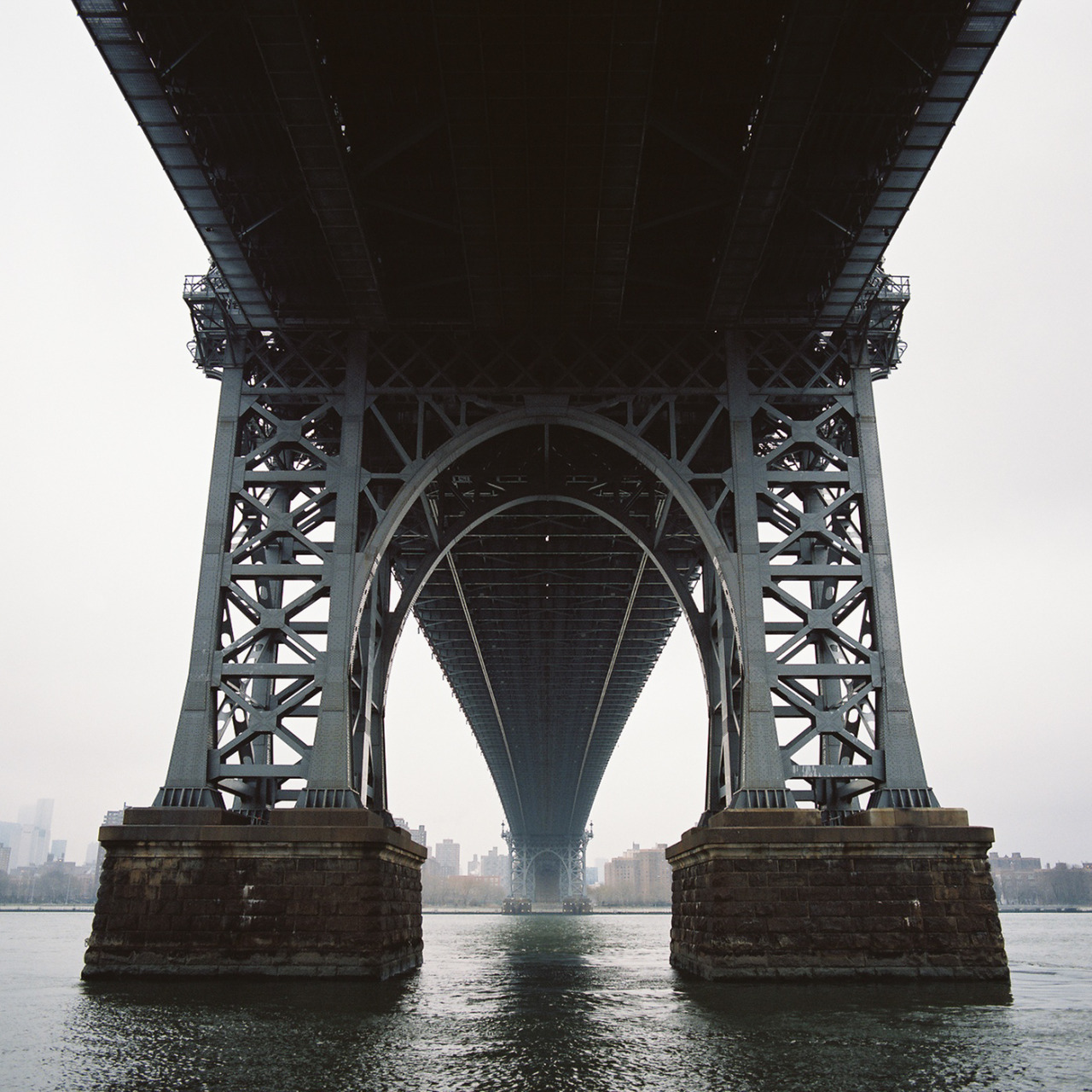 One of the first scans from my Hasselblad — Williamsburg Bridge, January 2013