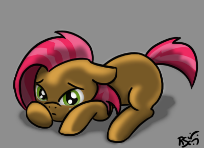 I wanted to draw a canon pony for once. Oh and still testing the shading thingy stuff.