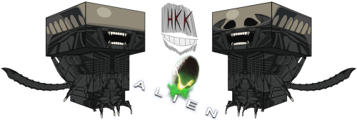 Cubecraft xenomorph by hollowkingking on deviantART template here