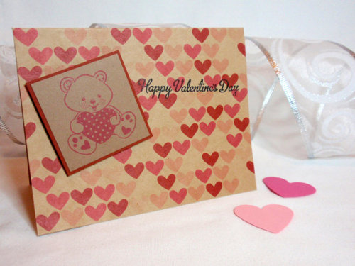 Still looking for that perfect handmade Valentine? Why not check out this cuddly teddy bear card? Available here.
