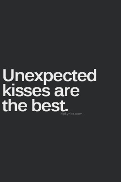 Unexpected Kisses | via Tumblr on We Heart It. http://weheartit.com/entry/62037150/via/skoobie79
