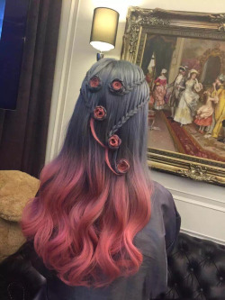 pretty hair cute beautiful curls pink hair style braid long hair rose dipdye pink hair curly hair braids hairstyle hair color ombre dip dye hair dye pinkhair curlyhair longhair haircolor hairdye 2tone