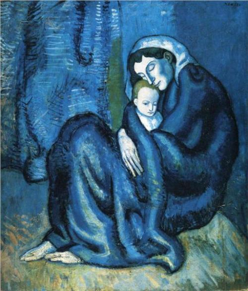 Pablo Picasso, Mother and Child, 1902.