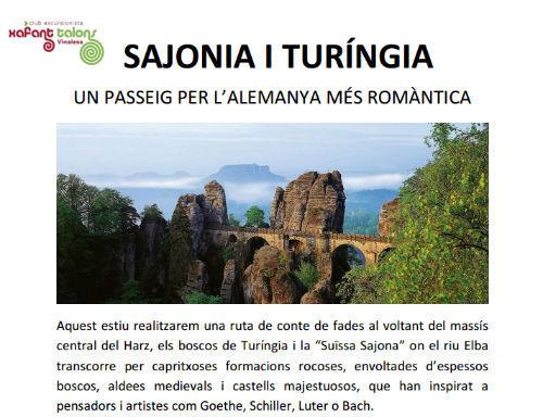 Caminando con Xafant Talons por Sajonia y Turingia, en agosto de 2015