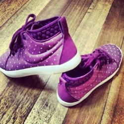 Worth it! 😍😍😍 #purple #new #kicks #shoes #nike #highcut