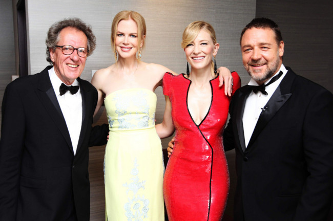 bohemea:  Geoffrey Rush, Nicole Kidman, Cate Blanchett & Russell Crowe - AACTA Awards, January 30th 2013 AUSTRALIANS!  EEEEEE!!!!