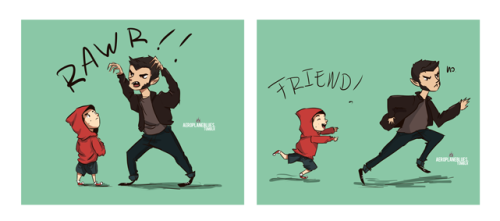 "aeroplaneblues:  ""Let's be friends!"" This is how I make friends. DeviantArt 