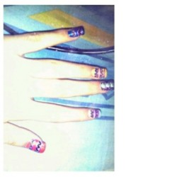 #nails #prettys #cute #loveit #colors #aztecanails #beautiful #l4l #f4f