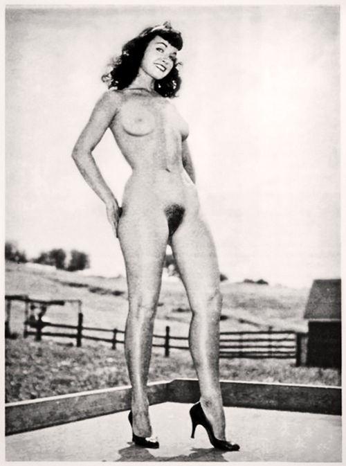 Bettie Page, farm girl.