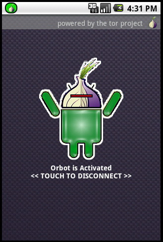 Orbot for secure browsing on the go