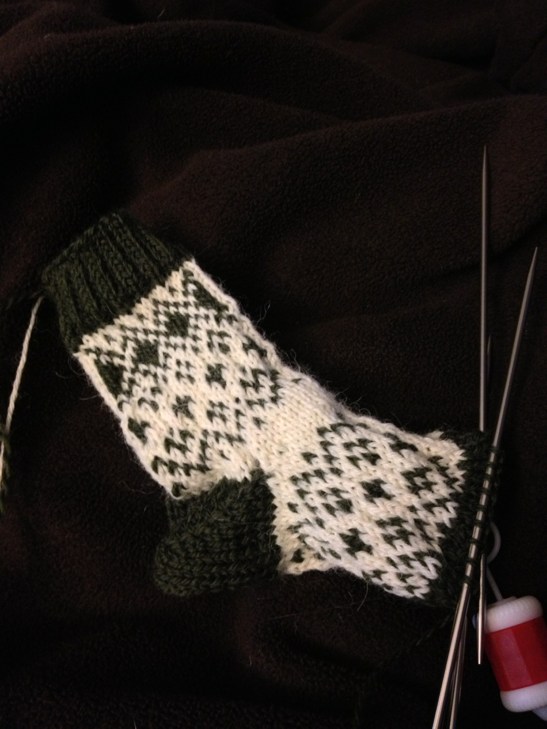 valerieknits:  This is how much knitting you can do during The Fellowship of the Ring.