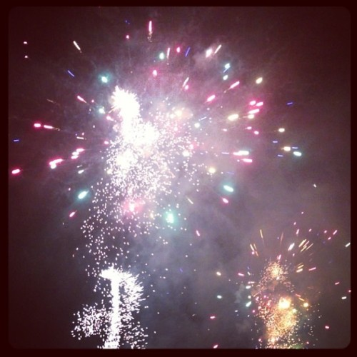 Pretty fireworks over Crown!!  (at Crown Promenade)