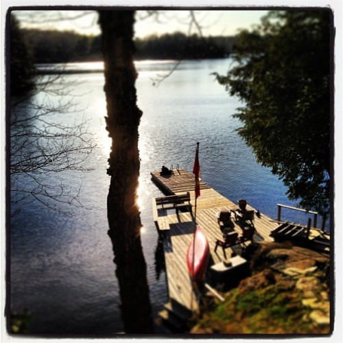 Ahhhhhh spring is here #cottage #ontario #starlake  (at Star Lake)