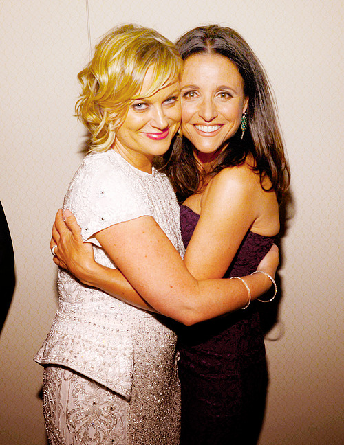 Amy Poehler and Julia Louis-Dreyfus attend the Pre-Dinner Cocktail Reception at Washington Hilton on April 27, 2013 in Washington, DC.