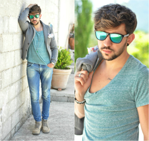 lookbookdotnu:  Green casual look (by Pierluigi Musco)