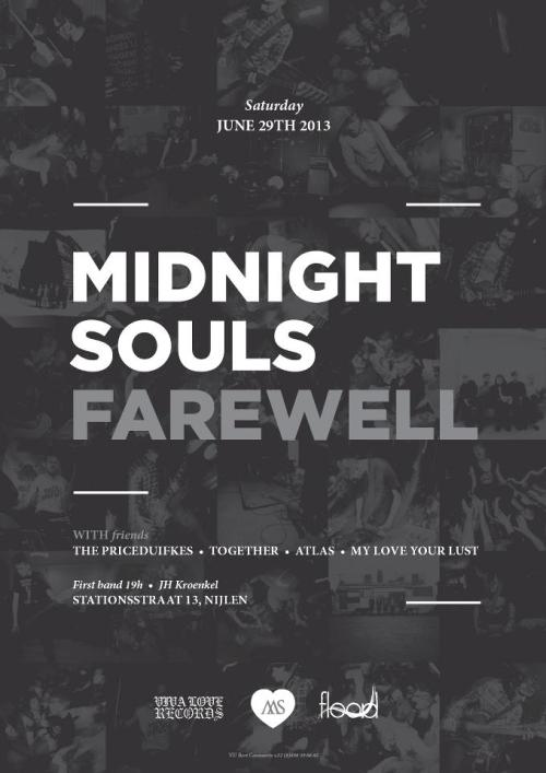 "vivaloverecords:  Last ever Midnight Souls show is coming up fast… Less than two months away. This will also be the 'releaseshow' for their final 7"" entitled Always. Info and pre-orders coming soon. Check out the event page. Stay tuned kids.  Not long now…"