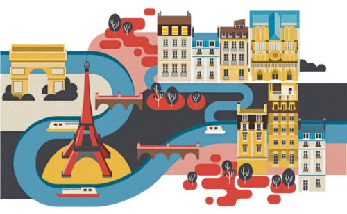 weandthecolor:  Lovely City Illustrations A set of nice 2D editorial illustrations of iconic cities by London-based illustrator and graphic designer Jing Zhang. More city illustrations by Jing Zhang on WE AND THE COLOR Facebook // Twitter // Google+ // Pinterest
